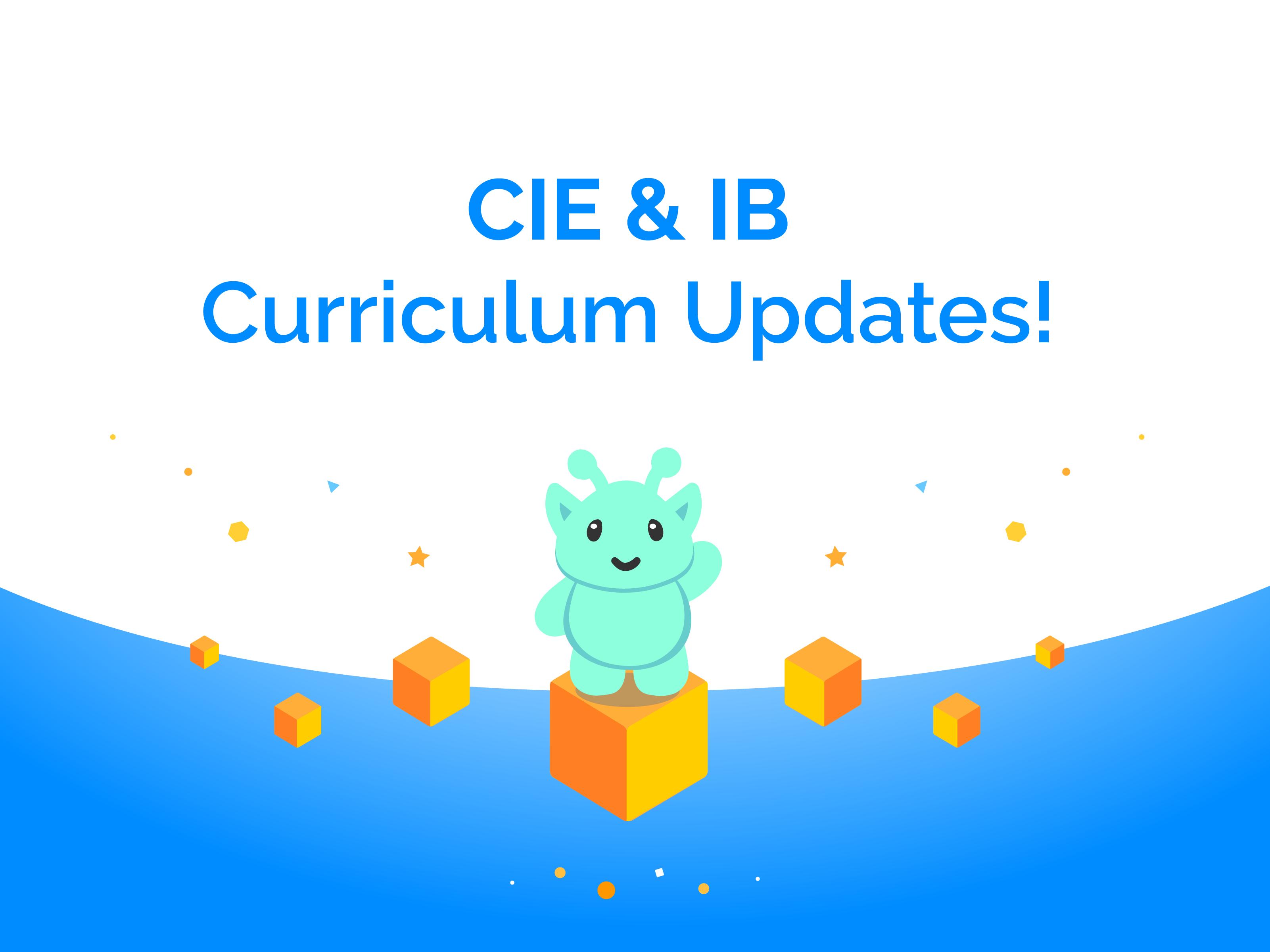 CIE and IB Curriculum Updates on Mangahigh