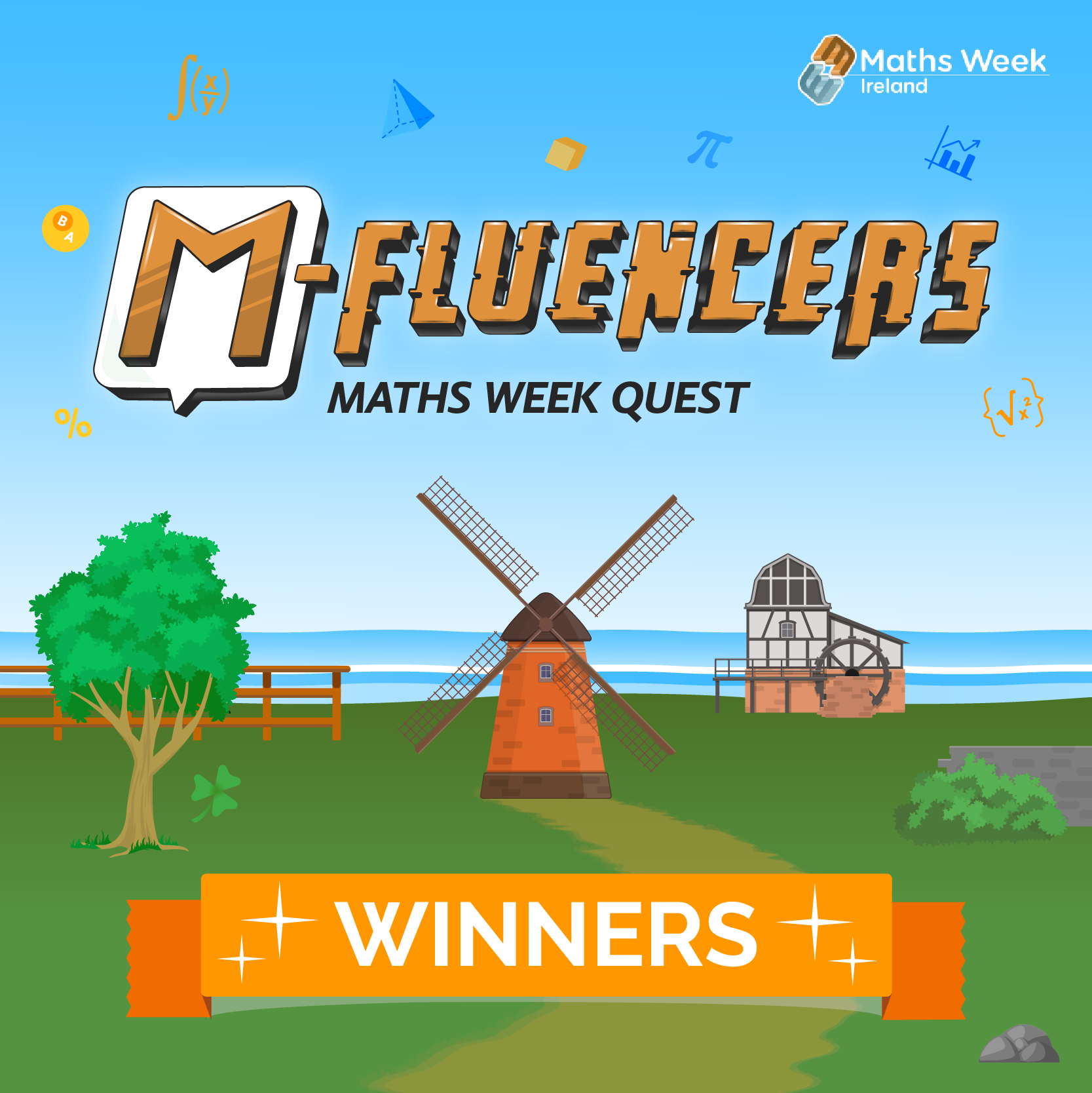 M-Fluencers Maths Week Quest Ireland - Congratulations to The Winners!