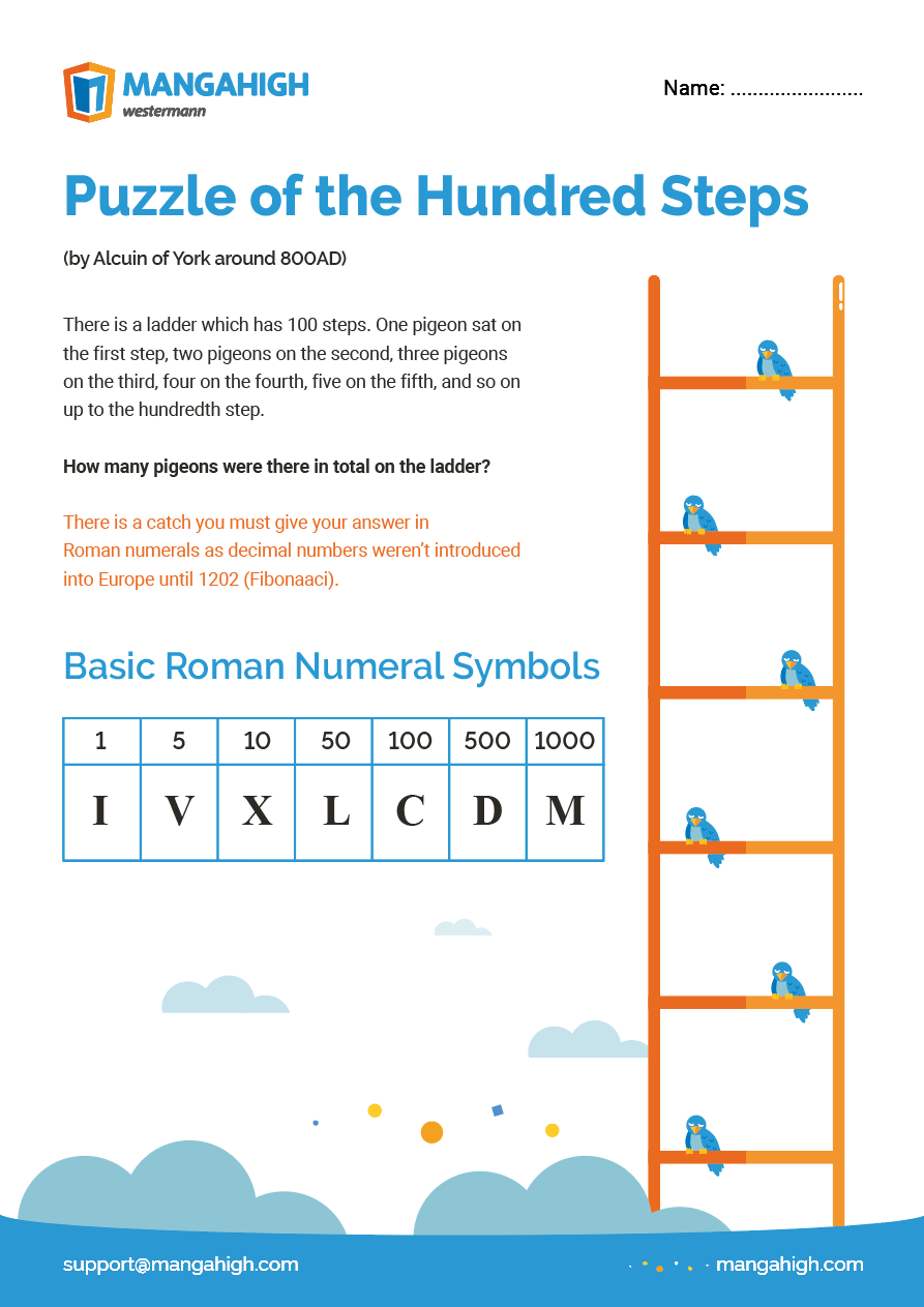 Puzzle of the Hundred Steps